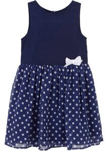 Festliches Mädchen Kleid mit Punkten