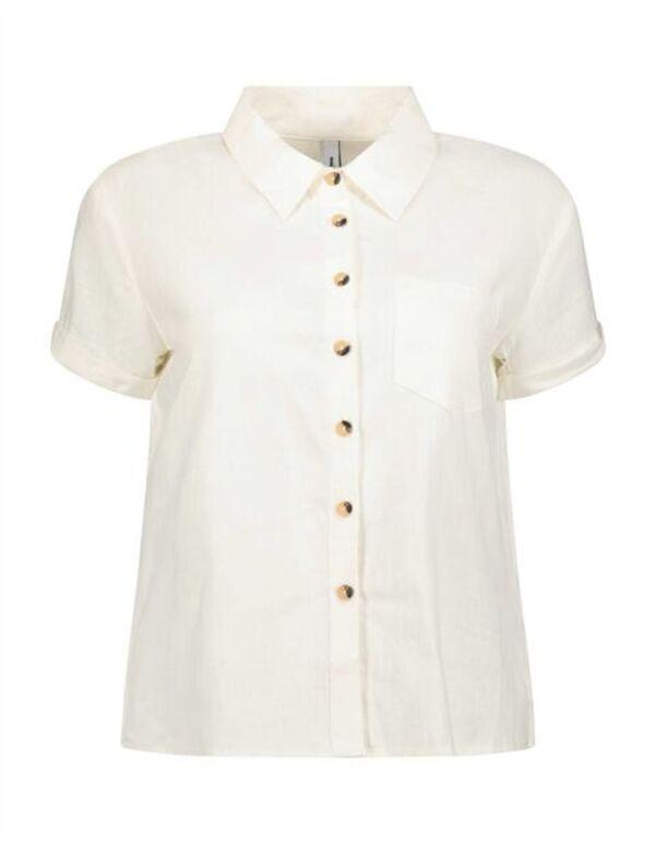 Damen Hemdbluse aus Leinen-Mix