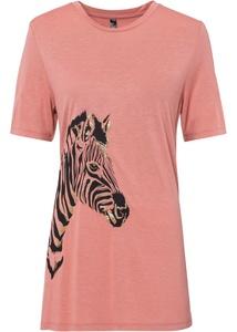 T-Shirt mit Zebra Druck