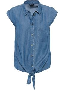 Bluse mit Knotendetail aus Tencel Lyocell