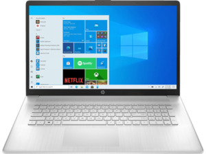 HP 17-cn0365ng, Notebook mit 17,3 Zoll Display, Intel® Core™ i7 Prozessor, 8 GB RAM, 512 SSD, Intel Iris Xe Grafik, Silber