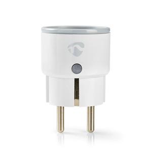 Nedis WLAN Smartplug (WIFIP110FWT) - Energieüberwachung, Schuko Typ F, 10 A