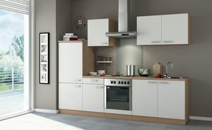 Küchenblock ohne Elektrogeräte  Carrara - creme - 270 cm - 199 cm - 60 cm
