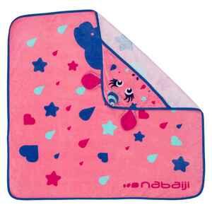 Badetuch Einhorn mit Kapuze Babys/Kleinkinder bedruckt rosa