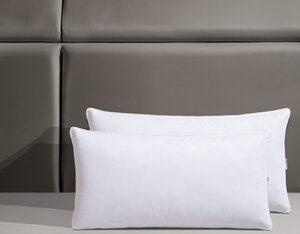 Federkopfkissen, »Jannika«, OTTO products, Füllung: 90% Federn & 10 % Daunen, Bezug: 100% Baumwolle, (2-tlg), plastikfreie Verpackung