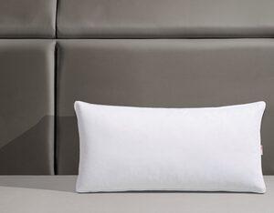Federkopfkissen, »Jannika«, OTTO products, Füllung: 90% Federn & 10% Daunen, Bezug: 100% Baumwolle, (1-tlg), plastikfreie Verpackung