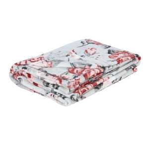 Fleece Decke mit Rosenmotiven, ca. 130x170cm