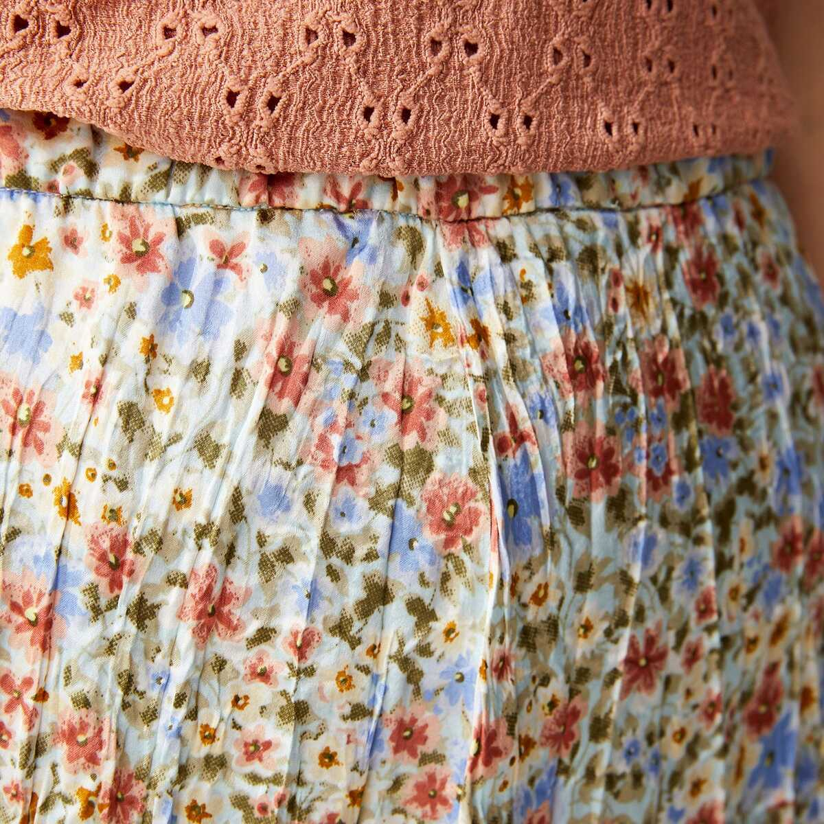 Bild 3 von Damen-Faltenrock mit Blumenmuster