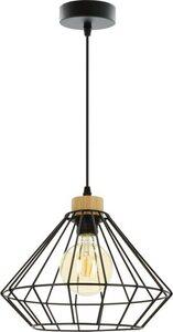 BRITOP LIGHTING Pendelleuchte »RAQUELLE«, Hängeleuchte, Originelle Leuchte aus Metall und Eichenholz, Passend LM E27, Kabel kürzbar, Made in Europe