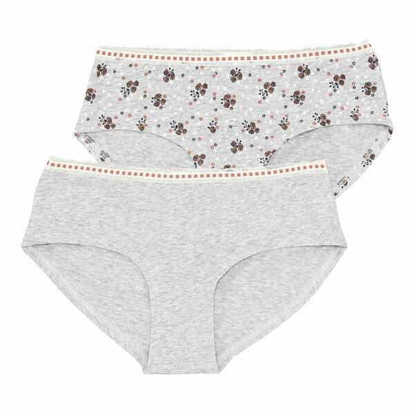 Damen-Panty mit hübschem Bund, 2er-Pack