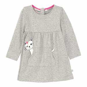 Baby-Mädchen-Kleid in Melange-Optik