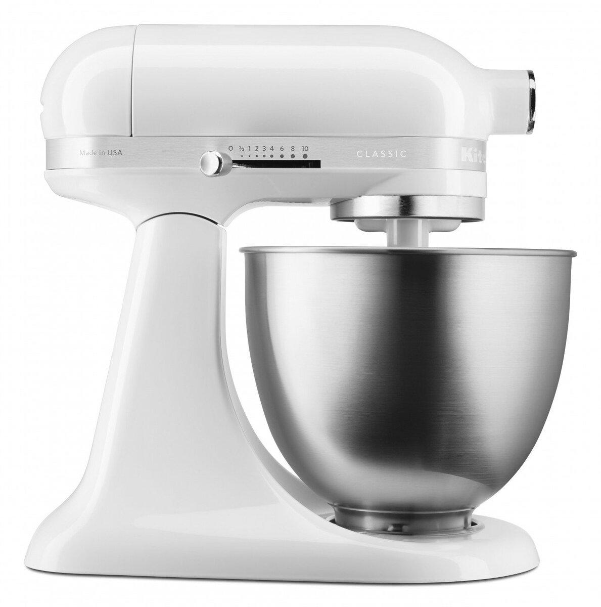 Bild 1 von KitchenAid Classic 3 3L Mini Tilt-Head Stand Mixer 5KSM3310X, weiß