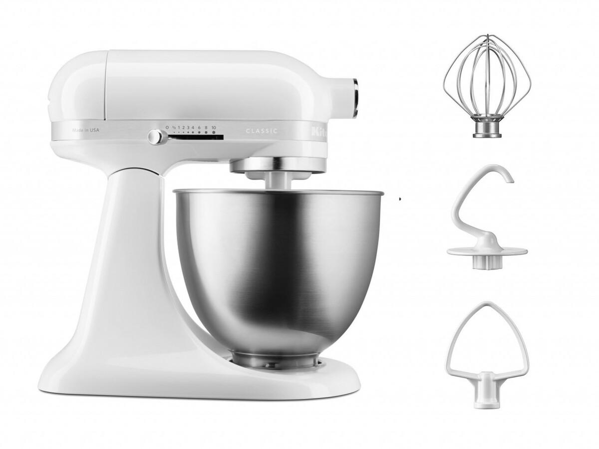 Bild 2 von KitchenAid Classic 3 3L Mini Tilt-Head Stand Mixer 5KSM3310X, weiß