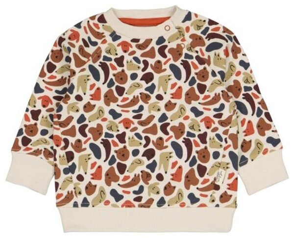 HEMA Baby-Sweatshirt Mit Bambus, Hunde Eierschalenfarben
