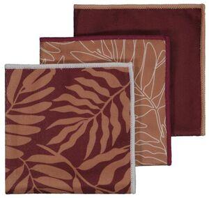 HEMA 3er-Pack Mikrofasertücher, 36 X 36 Cm, Blätter