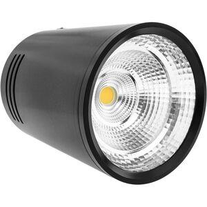 BeMatik - LED Fokus Oberfläche COB Lampe 7W 220VAC 3000K schwarz 75mm