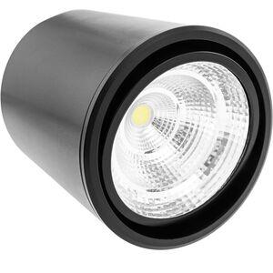 BeMatik - LED-Oberflächenstrahler mit beweglichem Kopf COB-Lampe 7W 220VAC 3000K schwarz 75mm