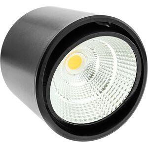 LED Fokus Oberfläche COB Lampe 12W 220VAC 6000K schwarz 115mm - Bematik