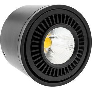BeMatik - LED Fokus Oberfläche COB Lampe 9W 220VAC 3000K schwarz 85mm