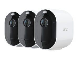 Arlo Pro 4 Spotlight Kamera, kabellose Überwachungskamera, 3er-Pack, WLAN, weiß