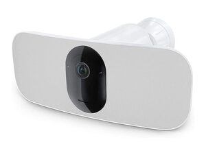 Arlo Pro 3 Floodlight, kabellose Flutlichtkamera mit Sirene, WLAN, 2K HDR, weiß