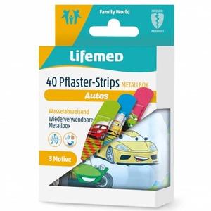 Lifemed® - Kinderpflaster - Autos - 40 Stück
