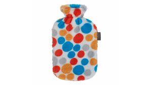 fashy Wärmflasche mit Flauschbezug mit Punkten 2l