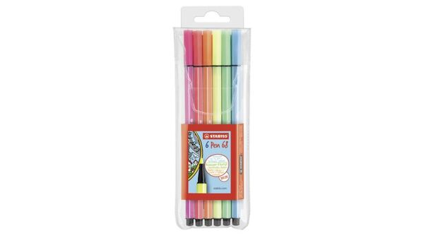 STABILO® Premium Fasermaler Pen 68 Neon 6er-Etui