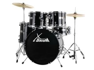 XDrum Semi 22 Standard Schlagzeug Set Midnight Black inkl. Schule + DVD