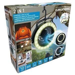 Grundig Campinglampe und Ventilator 2in1