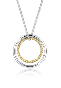 Elli Kette mit Anhänger Kreis Ring Geo Basic Trend 925 Sterling Silber