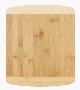 SSW Bambus Schneidbrett zweifarbig, 34 x 29 x 1,4 cm