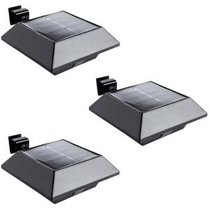 I-Glow LED-Solar-Dachrinnenlicht, Schwarz - 3er-Set