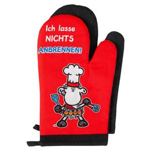 "Sheepworld Ofenhandschuhe, ""Ich lasse nichts anbrennen"" - 2er-Set"