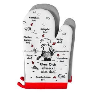 """Sheepworld Ofenhandschuhe, """"Ohne dich schmeckt alles doof"""" - 2er-Set"""