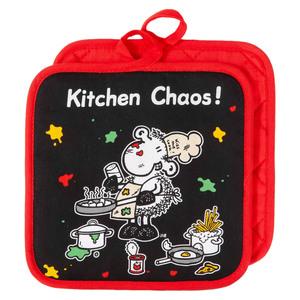 "Sheepworld Topflappen, ""Kitchen Chaos"" - 2er-Set"