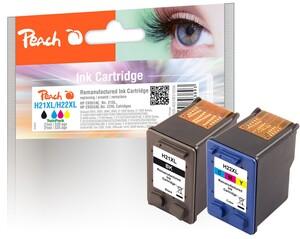 Peach Spar Pack Druckköpfe kompatibel zu HP No. 21XL, C9351AE, No. 22XL, C9352AE