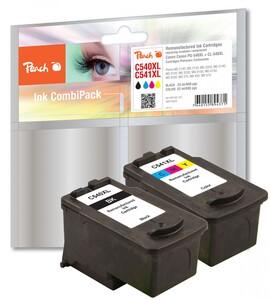 Peach Spar Pack Druckköpfe kompatibel zu Canon PG-540XL, CL-541XL