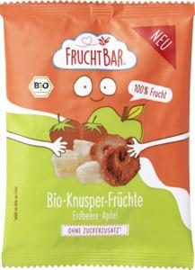 FruchtBar Bio Knusper-Früchte Erdbeere, Apfel