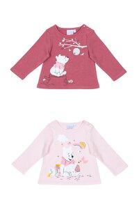 Baby Langarm T-shirt , 2er Pack - versch. Lizenzen & Größen - Winnie the Pooh für Mädchen - Gr. 62/68