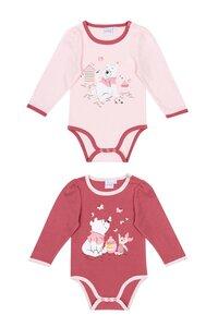 Baby Bodies Langarm im 2er Pack - versch. Lizenzen & Größen - Winnie the Pooh für Mädchen - Gr. 62/68