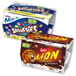 Smarties / Lion Joghurt