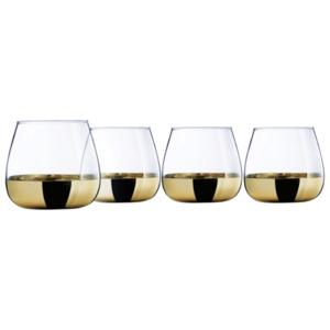 CreaTable Whiskeyglas 23464 Serie Golden Days 4-teilig transparent