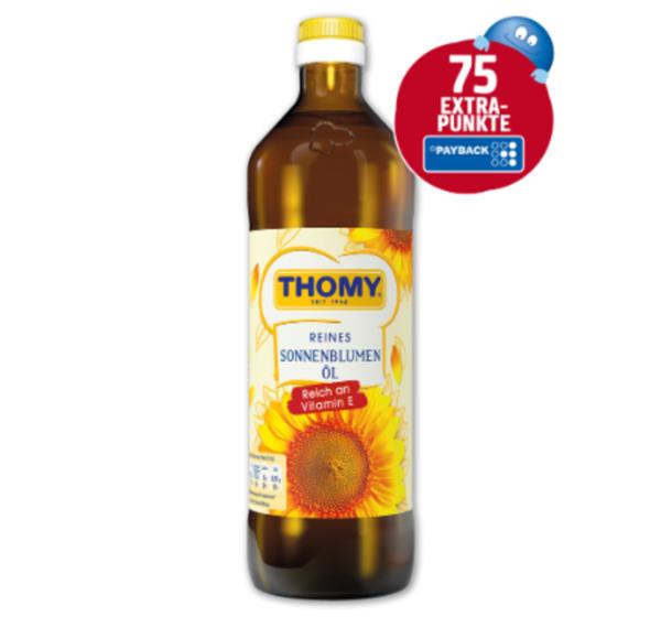 75 Extra-Punkte beim Kauf von Thomy Reines Sonnenblumenöl