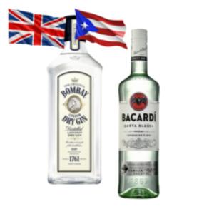 Bacardi Carta Blanca, Oakheart, Razz oder Bombay London Dry Gin