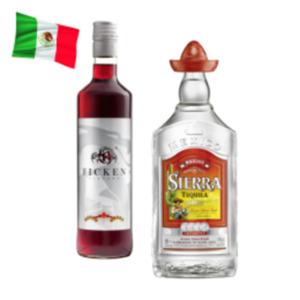 Sierra Tequila Silver, Reposado oder Ficken Likör Jostabeeren
