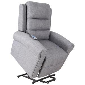 HOMCOM Massagesessel Massagestuhl Aufstehfunktion Wärmefunktion Fernbedienung Leinen 98 x 96 x 105 cm