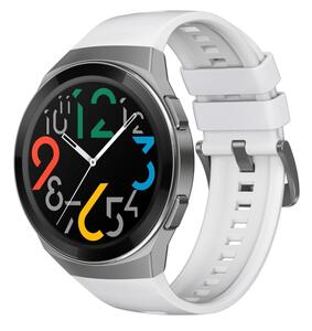 Huawei Watch GT2e 53mm Gehäuse, 46 mm Band white Bluetooth Smartwatch
