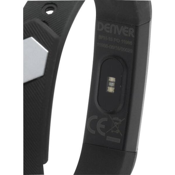 DENVER Electronics BFH-15 - Aktivitäts-Trackerarmband - Schwarz - Schwarz - Knöpfe - IP65 - OLED