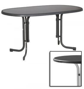 Sieger 252/A  Klapptisch Gartentisch 90x140 graphit klappbar, Nachbildungplatte oval